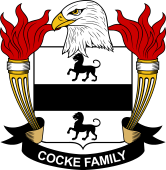 American Coat of Arms for Cocke