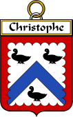 French Coat of Arms Badge for Christophe