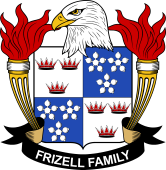 American Coat of Arms for Frizell