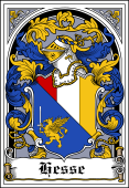 German Wappen Coat of Arms Bookplate for Hesse