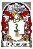 Irish Coat of Arms Bookplate for O'Donovan