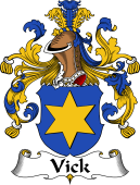 German Wappen Coat of Arms for Vick
