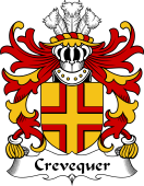 Welsh Coat of Arms for Crevequer (or Crevecoeur, Flint)