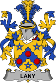 Irish Coat of Arms for Lany or Laney