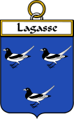 French Coat of Arms Badge for Lagasse