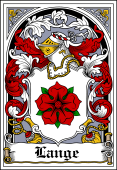 Danish Coat of Arms Bookplate for Lange