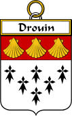 French Coat of Arms Badge for Drouin