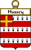 Irish Badge for Hussey or O'Hosey
