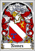 Spanish Coat of Arms Bookplate for Nunez