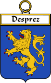French Coat of Arms Badge for Desprez