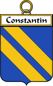 French Coat of Arms Badge for Constantin