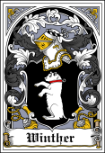 Danish Coat of Arms Bookplate for Winther