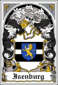 German Wappen Coat of Arms Bookplate for Isenburg