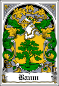 German Wappen Coat of Arms Bookplate for Baum