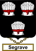 English Coat of Arms Shield Badge for Segrave