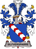 Swedish Coat of Arms for Silfversparre