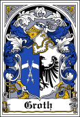 Danish Coat of Arms Bookplate for Groth