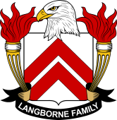 American Coat of Arms for Langborne