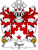 Welsh Coat of Arms for Dyer (of Haverfordwest, Carmarthenshire)