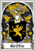 Irish Coat of Arms Bookplate for Griffin