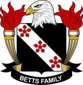 American Coat of Arms for Betts