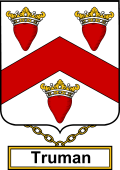 English Coat of Arms Shield Badge for Truman