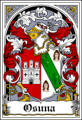 Spanish Coat of Arms Bookplate for Osuna
