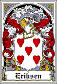Danish Coat of Arms Bookplate for Eriksen