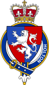 British Garter Coat of Arms for Holton (England)