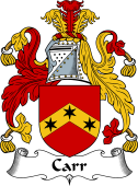 English Coat of Arms for Carr