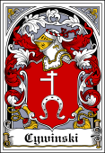 Polish Coat of Arms Bookplate for Cywinski