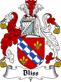 English Coat of Arms for Bliss or Blisse