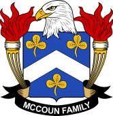 American Coat of Arms for McCoun