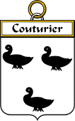 French Coat of Arms Badge for Couturier