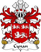 Welsh Coat of Arms for Cynan (AB IAGO)