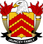 American Coat of Arms for Jauncey