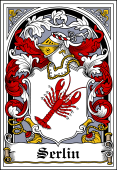 Danish Coat of Arms Bookplate for Serlin