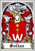 Polish Coat of Arms Bookplate for Soltan