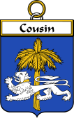 French Coat of Arms Badge for Cousin