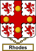English Coat of Arms Shield Badge for Rhodes