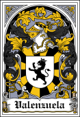 Spanish Coat of Arms Bookplate for Valenzuela
