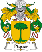 Spanish Coat of Arms for Piquer