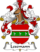 German Wappen Coat of Arms for Lesemann