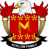 American Coat of Arms for Acklom