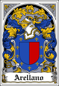 Spanish Coat of Arms Bookplate for Arellano