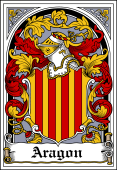 Spanish Coat of Arms Bookplate for Aragon