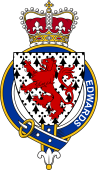 British Garter Coat of Arms for Edwards (Wales)