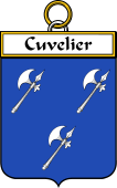 French Coat of Arms Badge for Cuvelier
