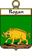 Irish Badge for Rogan or O'Rogan