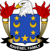 American Coat of Arms for Ravenel
